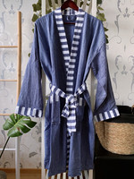 Hammam Bathrobe Denim Blue L/XL