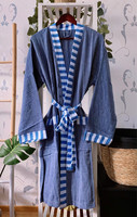 Hammam Bathrobe Denim-Ocean L/XL