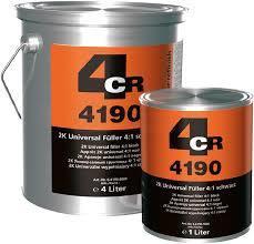 4CR täyttävä pohjamaali harmaa 4L + kovete 1L + ohenne 1L
