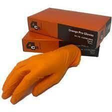 4CR 6768 Puuteroimaton oranssi nitrile käsine 50kpl/pkt