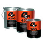 4CR 4200 hiomaväri / märkää-märälle pohjamaali. Valk., harmaa, musta