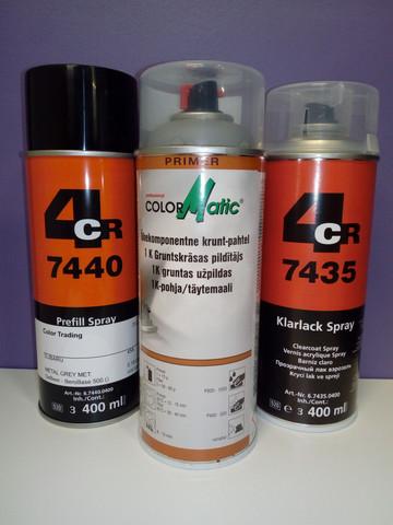 Merkkikohtainen spray värikoodin mukaan + Pohjamaali & Lakka
