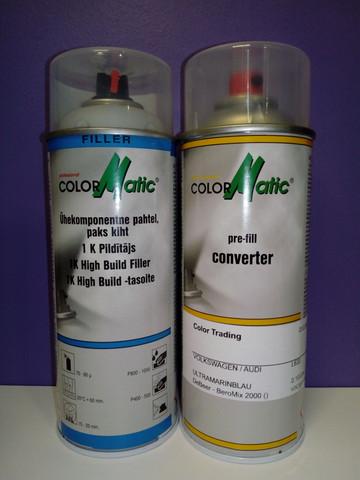 Merkkikohtainen spray värikoodilla + Pohjamaali