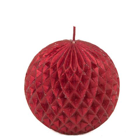 Pallokynttilä, punainen - joulupallo
