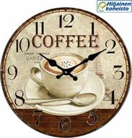 Seinäkello - kahvi