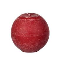 Pallokynttilä, punainen - 8 cm
