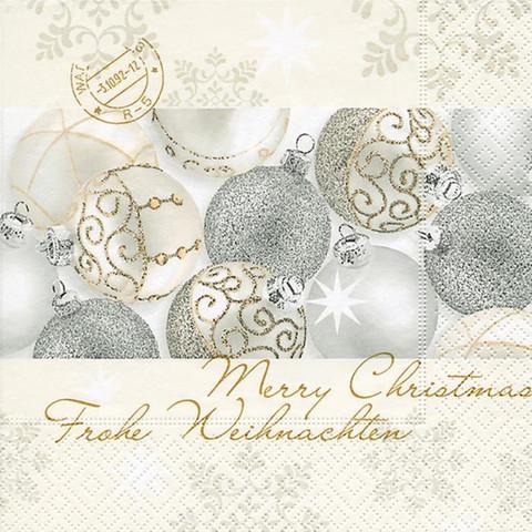 Servetti, Lounas - hopeiset joulupallot