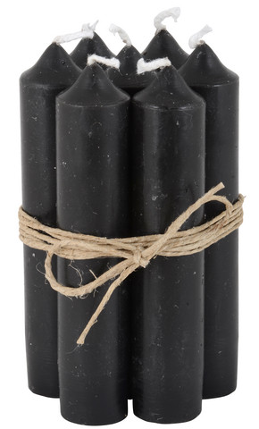 Kruunukynttilä, 11 cm - Musta