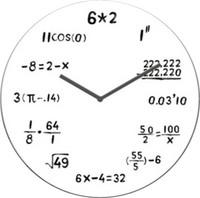Seinäkello - Matematiikka