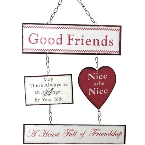 Hyvä Ystävä - Seinäkyltti
