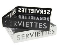 Servettiteline - Serviettes, pelti