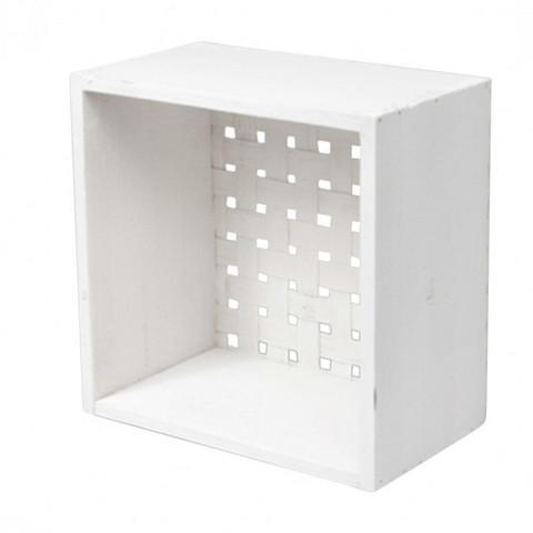 Puulaatikko, valkoinen