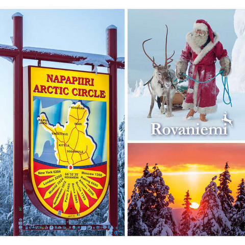 Joulukortti - Napapiiri