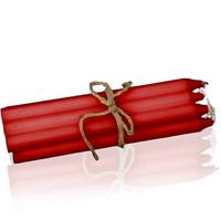 Kruunukynttilä, Punainen 30 cm