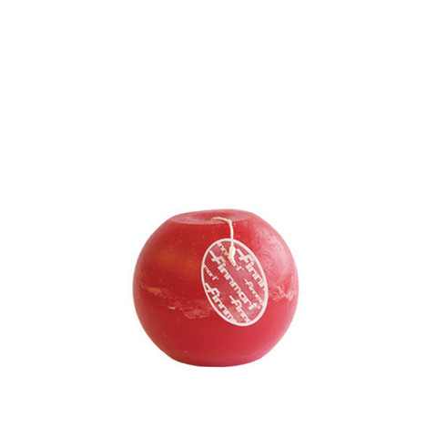 Finnmari - Pallokynttilä, punainen 10 cm