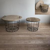 Metalwood - Sohvapöydät, 2kpl (korisetti)