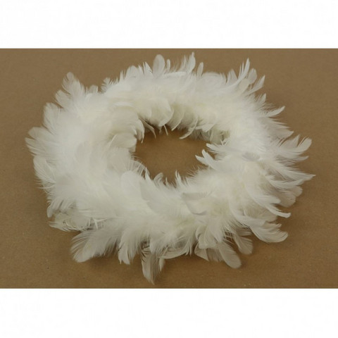 Kranssi - Höyhen, valkoinen 30 cm