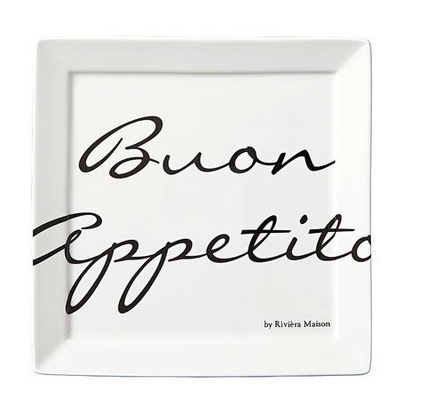 Buon Appetito Square Plate 22 x 22 cm - Riviera Maison