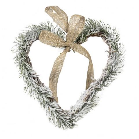 Joulukranssi - Sydän 25 cm