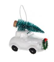 Joulukoriste - Valkoinen auto