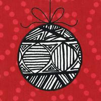 Joulukortti - Joulupallo, musta