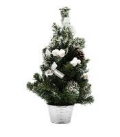 Joulukuusi ja koristeet 50 cm, valkoinen