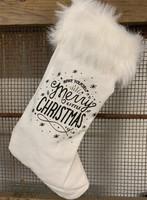 Joulusukka - tekstillä, valkoinen