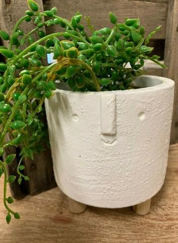Kukkaruukku - Kasvot,valkoinen
