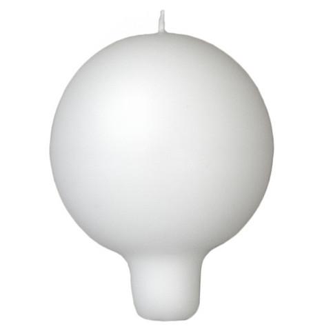 Pallokynttilä, kannallinen - Valkoinen ( 2kpl)