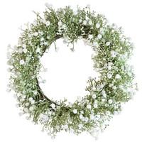 Finnmari - Kukkakranssi, valkoinen 38 cm