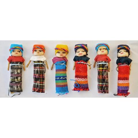 Guatemalaiset Huolinuket, Iso (5cm) - Worry Dolls