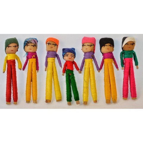 Guatemalaiset Huolinuket, Poika (7,5cm) - Worry Dolls