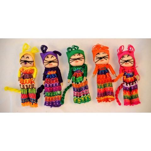Guatemalaiset Huolinuket, Kissa - Worry Dolls