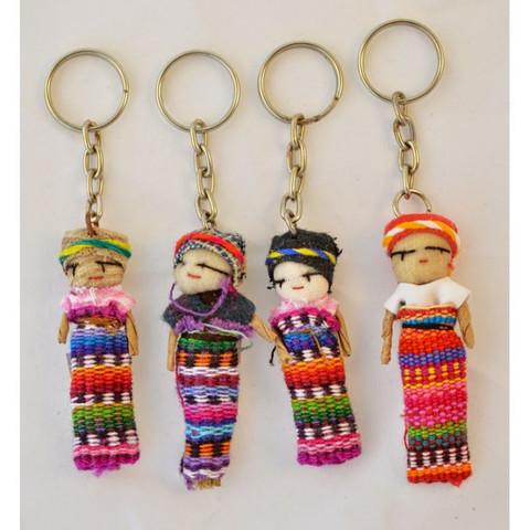 Guatemalaiset Huolinuket, Avaimenperä - Worry Dolls