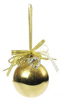 Joulupallo, Kultainen - 6,5 cm