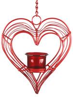 Kynttilälyhty, Sydän - Punainen