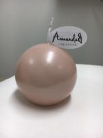 Pallokynttilä, Vaalea roosa - lakattu pinta