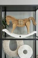 Rustic Rattan Rocky Horse - Riviera Maison