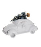 Jouluauto - Beetle valoilla, valkoinen