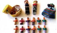 Guatemalaiset Huolinuket kukkarossa (Isot), 6 kpl -  Worry Dolls