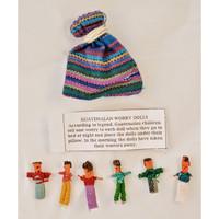 Guatemalaiset Huolinuket pussissa, 6 kpl - Worry Dolls