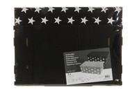 Pahvilaatikko, musta - 2 kpl