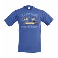 My favorite fishing shirt lasten t-paita