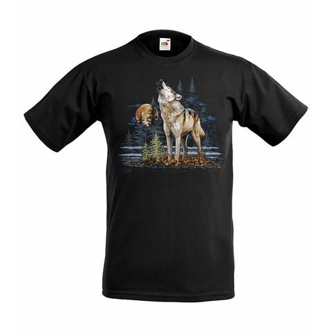 Ulvova susi lasten t-paita