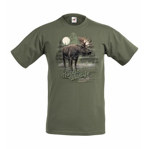 Hirvi, Nordic Wildlife t-paita