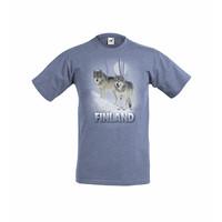 Sudet sumuisessa metsässä t-paita