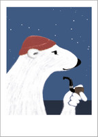 Jäämerikarhu-postikortti
