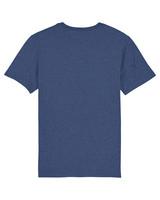 Unisex retrologo t-paita (vedensininen)