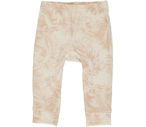 MarMar Liva Baby Leg Feather Print Jersey (Cameo Rose)