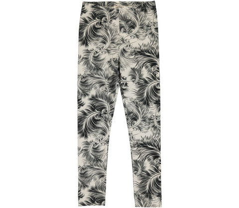 MarMar Lisa Junior Leg Feather Print Jersey (Peat)